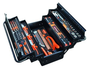 Coffret de l'outillage en modules foam, incl. l'outillage